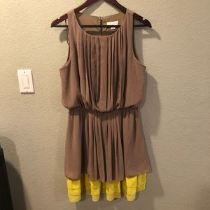 Grey and neon yellow dress size L